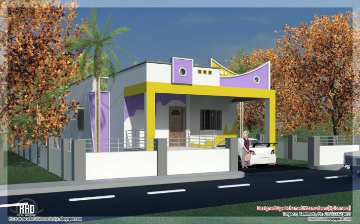 Gorgeous 3 Bedroom South India Style Minimalist Tamilnadu House Design Small House Plans In South Indian Style Photo
