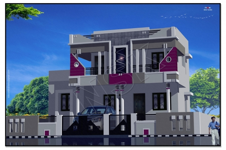 Gorgeous 3D Elevation-House Home -Exterior-Front Elevation-Architeucture Gharexpert Front Elevation Pic