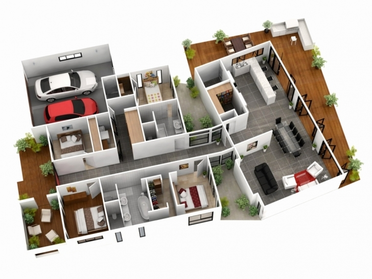 Gorgeous 4 Bedroom 1 Story House Plans 3D Best Of 1 Room House Plan 3D 4 Bedroom 1 Story House Plans 3D Photo