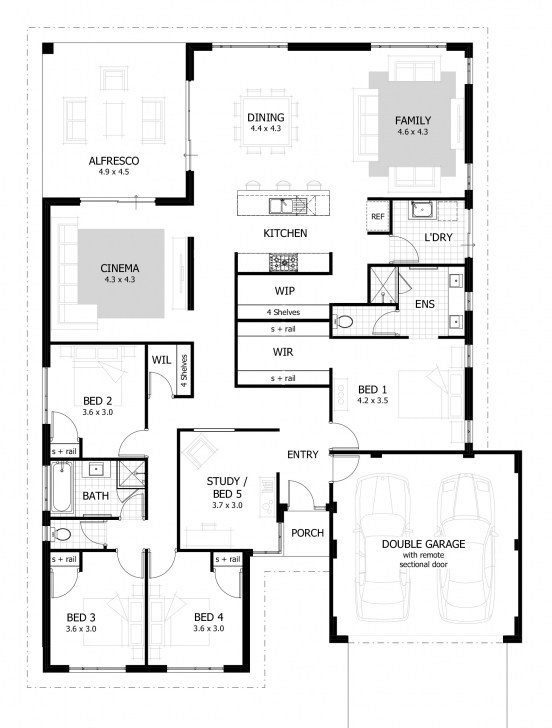 Gorgeous 4 Bedroom House Plans & Home Designs | Celebration Homes 4Bedroom Bungalow And The Floor Plan Pic