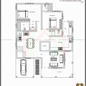 1 Bedroom House Plans Kerala Style