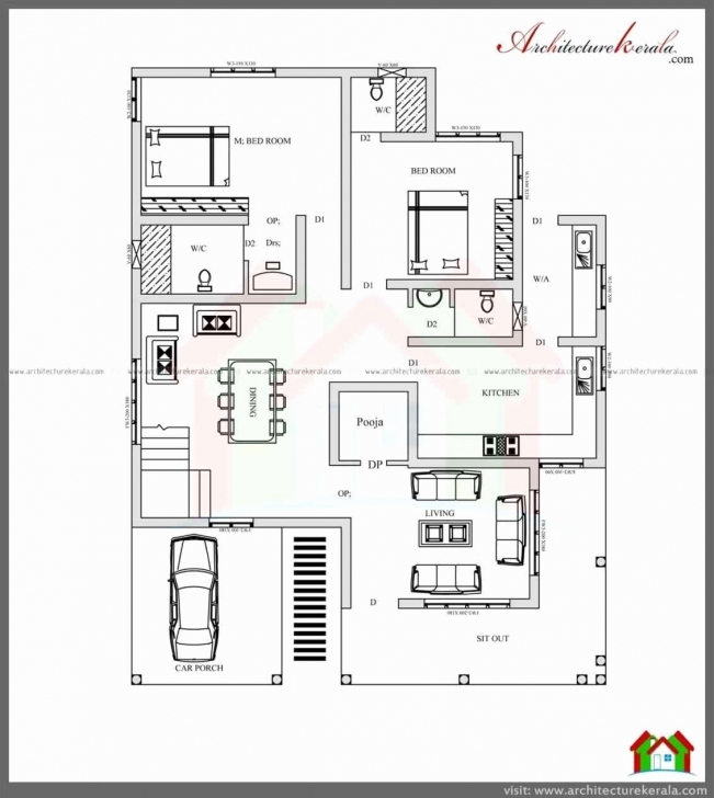 Gorgeous 50 Beautiful Pictures 3 Bedroom Small House Plans Kerala - Home 1 Bedroom House Plans Kerala Style Image