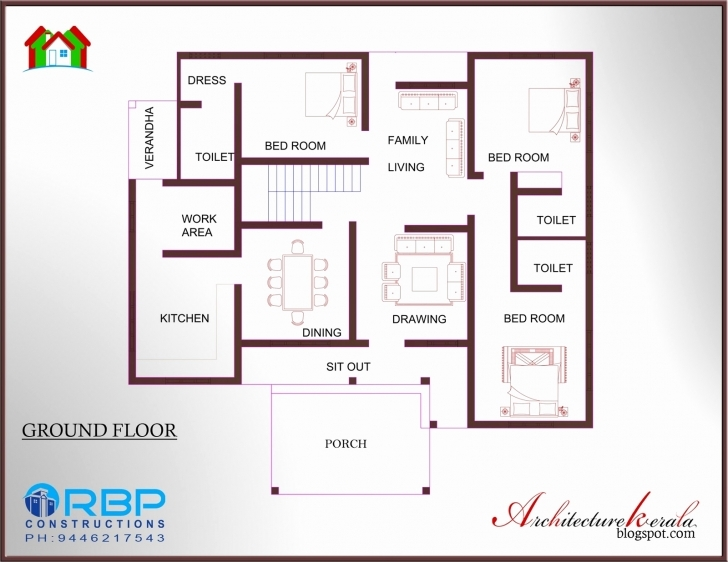 Gorgeous 59 New Pics Kerala Style 3 Bedroom House Plans Single Floor | Hous Three Bedroom House Plans Kerala Style Picture