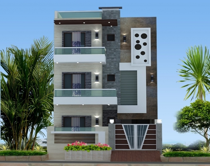 Gorgeous Chitramukta 3D Exterior Front Elevation Photos, Cantt, Ambala 3D Front Elevation Of House In Punjab Picture