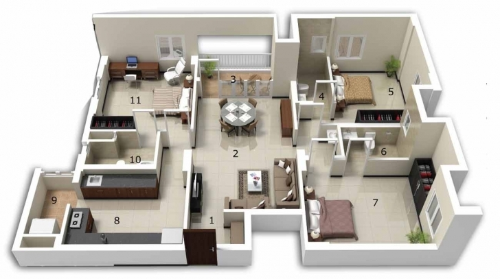 Great 3 Bedroom House Designs In India Download 3 Bedroom House Plans 3 Bedroom House Plan In India Image