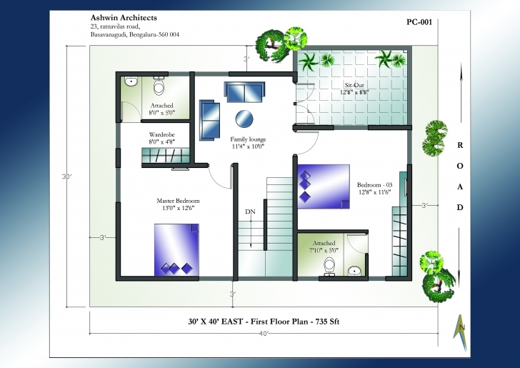 Great 30 X 40 House Plan East Facing Home Plans India 1St Floor Loversiq Indian Vastu House Plans For 30X40 East Facing Photo