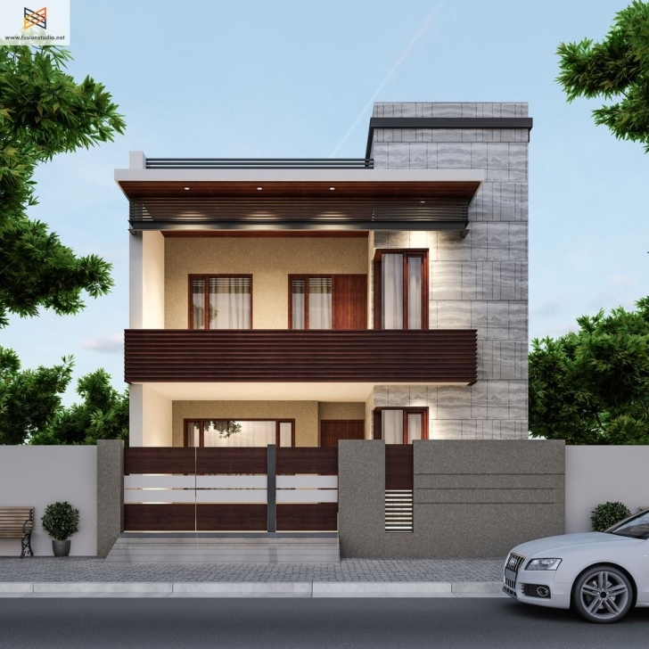 Great 3D Visualization   House Elevation Modern Compact   Pinterest 3D Front Elevation Of House In Punjab Photo