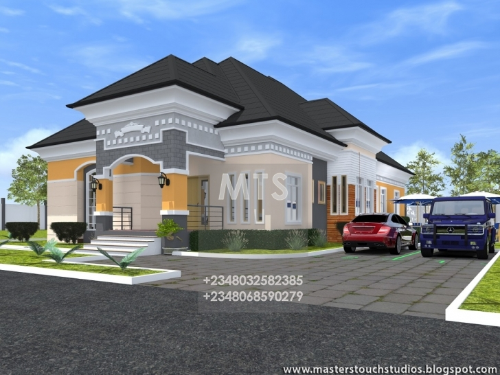 Great 4 Bedroom Bungalow Designs Residential Homes And Public Designs 4 Four Bungalow Design Image