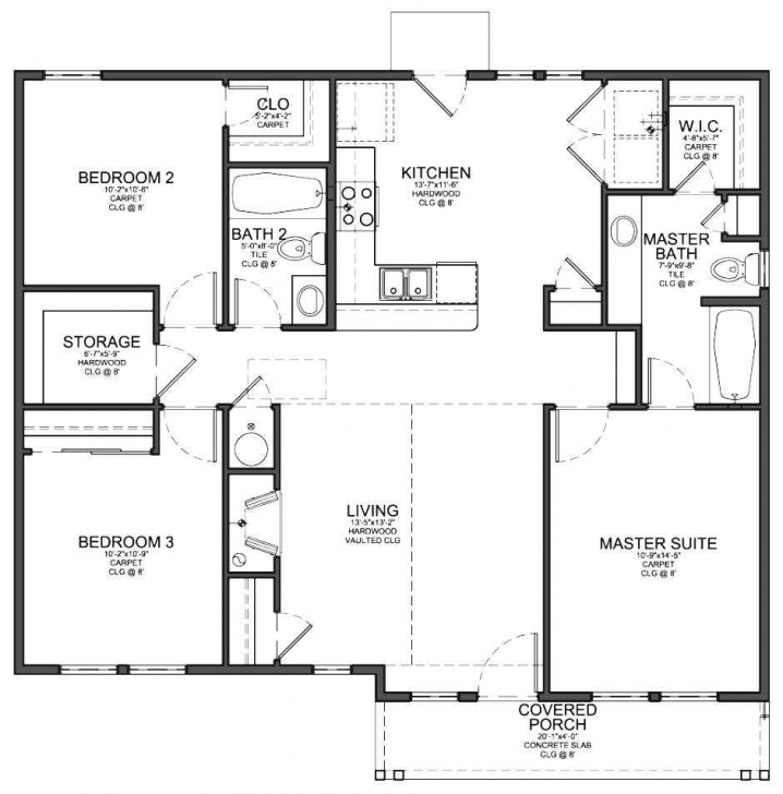 Great Fabulous Modern Three Bedroom House Plans Trends Also Flat In Three Bedroom Plan In Nigeria Image