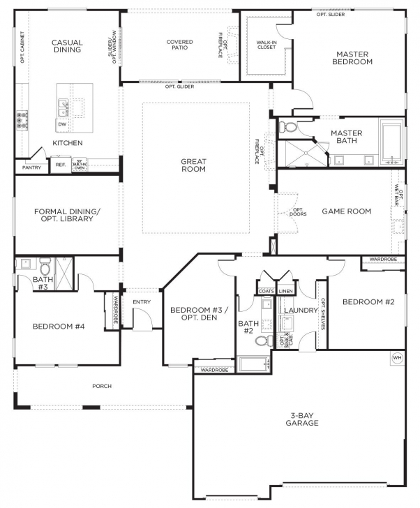 Great Love This Layout With Extra Rooms. Single Story Floor Plans   One Single Story House Floor Plan Picture
