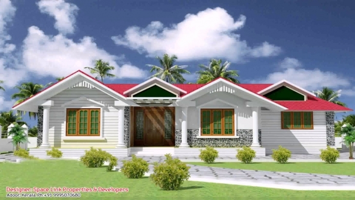Great Single Floor House Front Elevation Design India - Youtube Single Floor House Front Elevation Designs In Kerala Photo