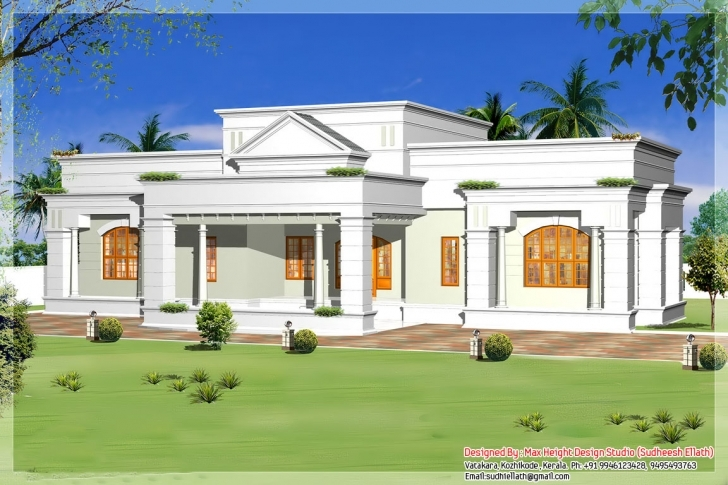 Great Single Home Designs - Homes Design Kerala House Designs And Floor Plans 2015 Pic