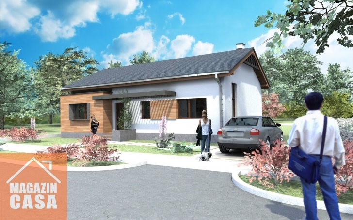 Great Small And Modern House Plans. One Story House Plans For Houses And Small Single Storey House With Garage Picture