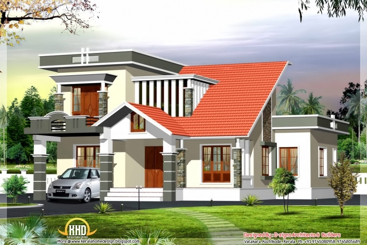 Great Style Modern Contemporary House Kerala Home Design - Building Plans Modern House In Kerala Photo