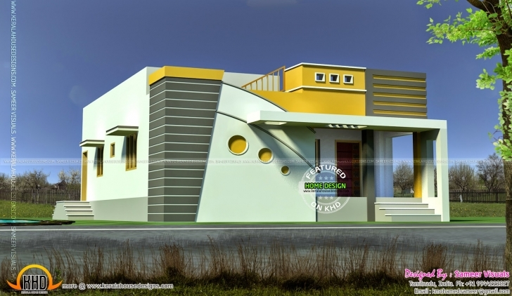 Great Tamilnadu Model Small Budget House - Kerala Home Design And Floor Plans Tamil Nadu Small House Images Image