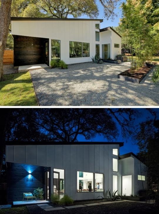 Great This L-Shaped House In Texas Opens Up For Indoor / Outdoor L Shaped House Pictures Pic