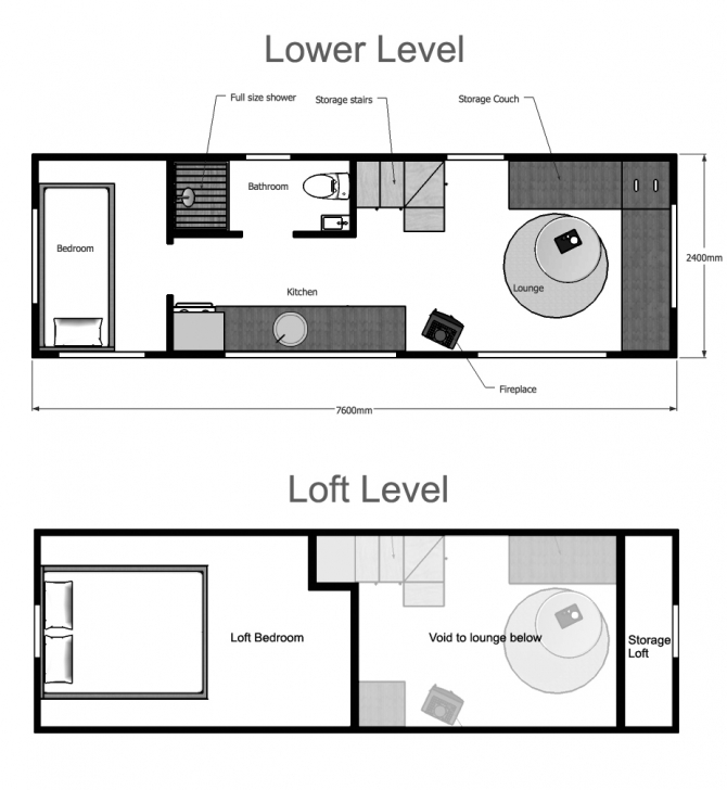 Great Tiny House Plans Suitable For A Family Of 4! Tiny House Plans Picture