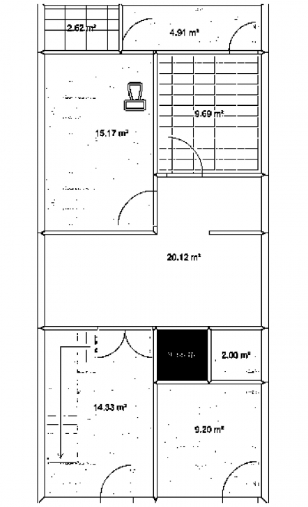 Great Winner 3 Marla Design Of House 17 By 45   Ea English 15 45 House Maps Photo
