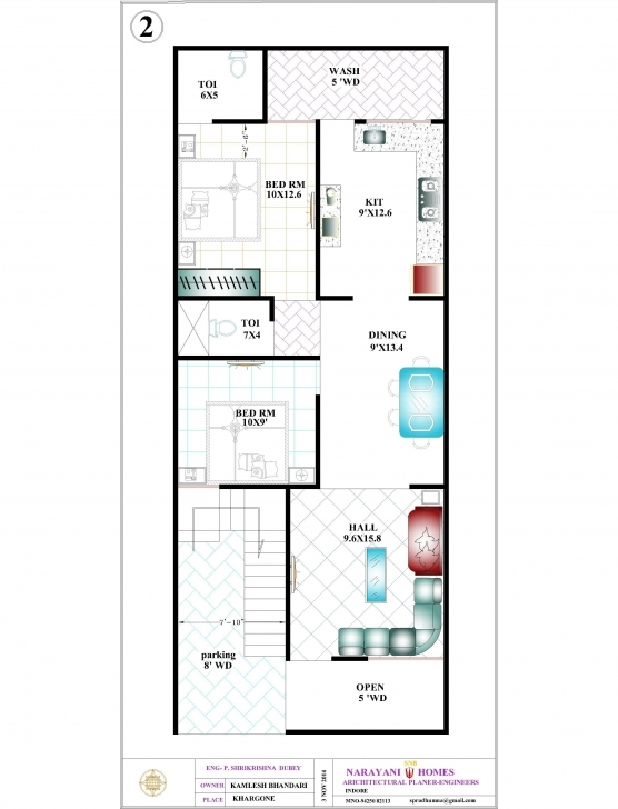 Image of 20×50 House Design India New House Plan 3D Model Thepearl Siam 20*50 House Plan 3D Pic