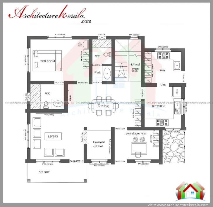 Image of 3 Bedroom House Plan Elevation - Homes Floor Plans Three Bedroom House Plans Kerala Style Picture