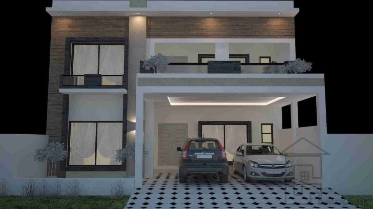 Image of 30X60 House Plan Front Elevation | House Elevation Modern Compact 30X60 House Front Elevation Designs Picture