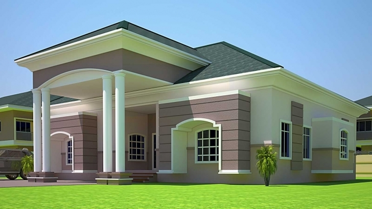 Image of 4 Bedroom Building Plans In Ghana — Modern House Plan : Modern House Building Plans Of Four Bedroom Picture