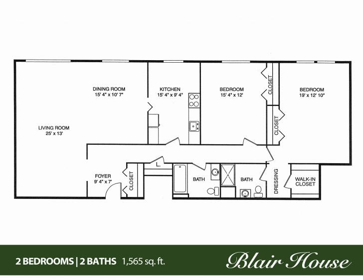 Image of 50 Inspirational Collection Of 3 Bedroom 2 Bath Bungalow Floor Plan 3 Bedroom 2 Bath Bungalow Floor Plan Pic
