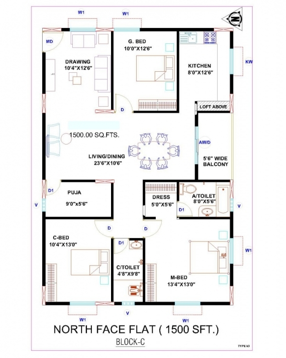 Image of Architectures : Home Architecture East Facing House Plan Webbkyrkan 30*45 House Plan North Facing Pic