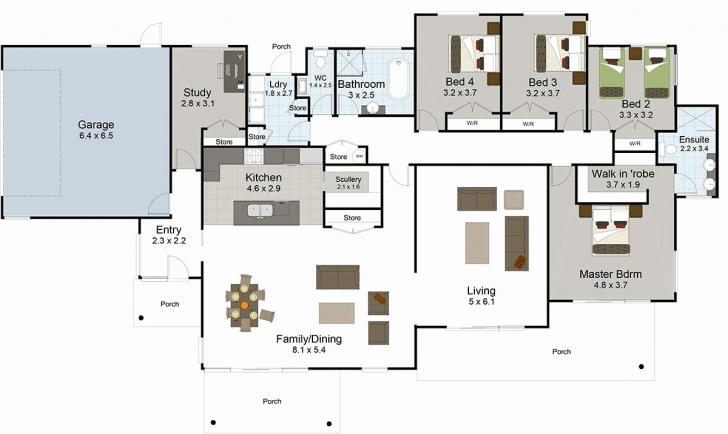 Image of Five Bedroom House Plans One Story Best Of 5 Bedroom House Plans Five Bedroom House Plans Pic