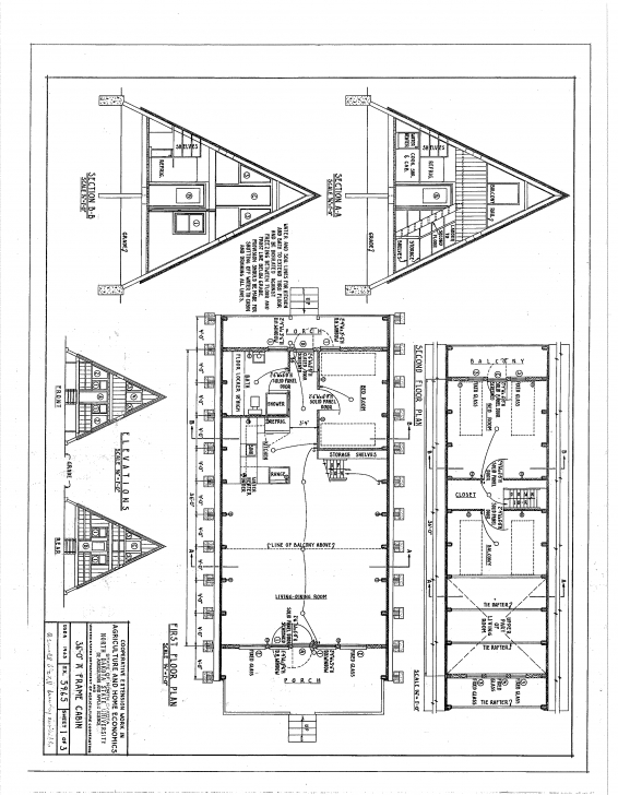 Image of Free A-Frame Cabin Plans Blueprints Construction Documents   Sds A Frame House Plans With Loft Pic