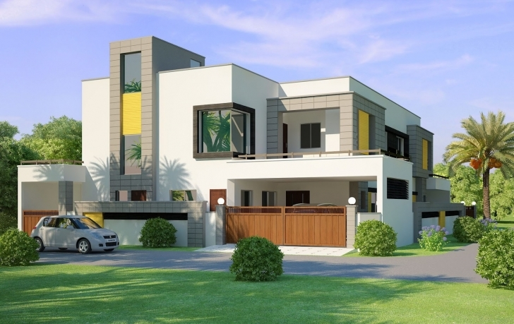 Image of Home Design Front Elevation Modern House Decorating Ideas - Building Best Building Plan With Elevation Photo