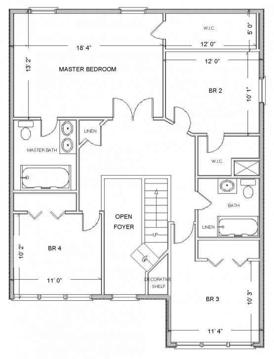 Image of House Plan Attractive Floor Plans Based True Story With Smart Draw How To Draw A 3 Bedroom House Pic