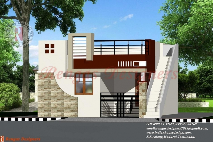 Image of Indian House Design Single Floor Designs - Building Plans Online Small House Front Elevation Designs For Single Floor Pic