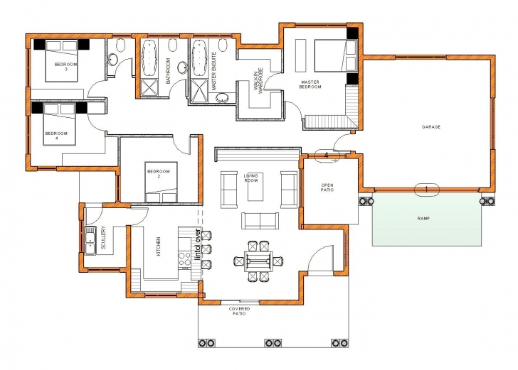 Image of Modern 4 Bedroom House Plans South Africa Stunning Tuscan Corglife South African 4 Bedroom House Plans Pic