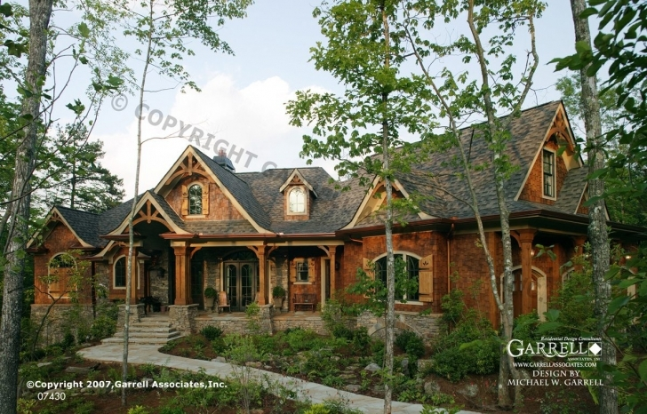 Image of Mountain Rustic House Plans Style Craftsman Lodge Home With Luxury Mountain Craftsman Home Plans Pic