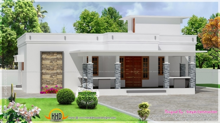 Image of Small House Elevation Rendering Drawing - Building Plans Online | #90169 Kerala House Elevation Ground Floor Pic