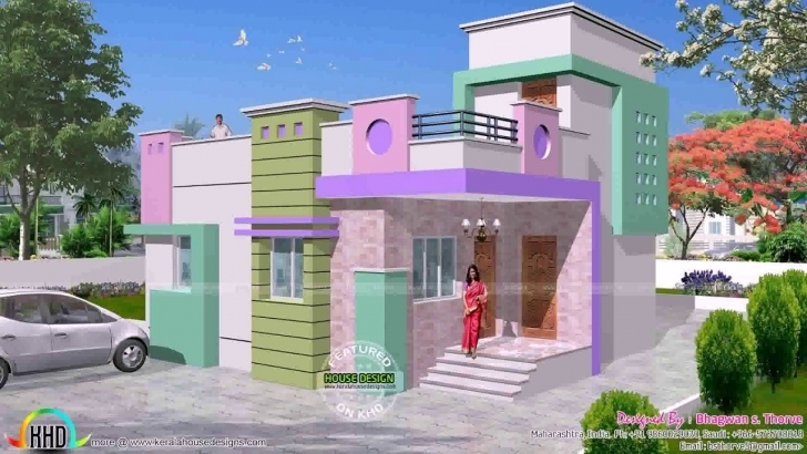 Image of South Indian House Front Elevation Designs - Youtube Single Floor House Front Elevation Design In India Image