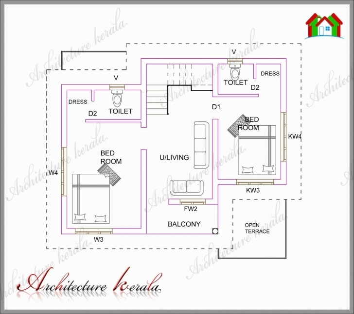 Incredible 800 Sq Ft House Plans Good 2 Bedroom House Plans Kerala Style 1000 800 Sq Ft House Plans Kerala Style Pic