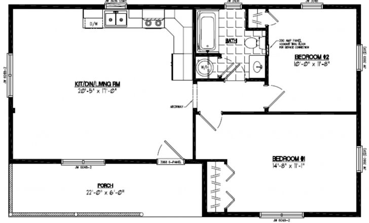 Incredible Certified Homes | Frontier Style Certified Home Plans 22*40 House Design Picture