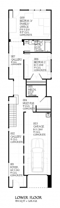 Incredible Designs For Narrow Lots - Time To Build 12*50 House Design Picture