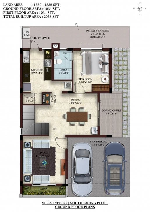 Incredible Home Architecture: Sq Ft House Plans With Car Parking Webbkyrkan 1200 Sq Ft House Plan With Car Parking 3D Picture