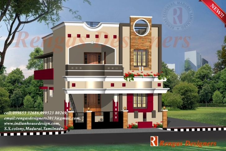 Incredible House Designs Double Floor Collection With Outstanding Houses Front Indian Home Front Elevation Design Photo Gallery Image