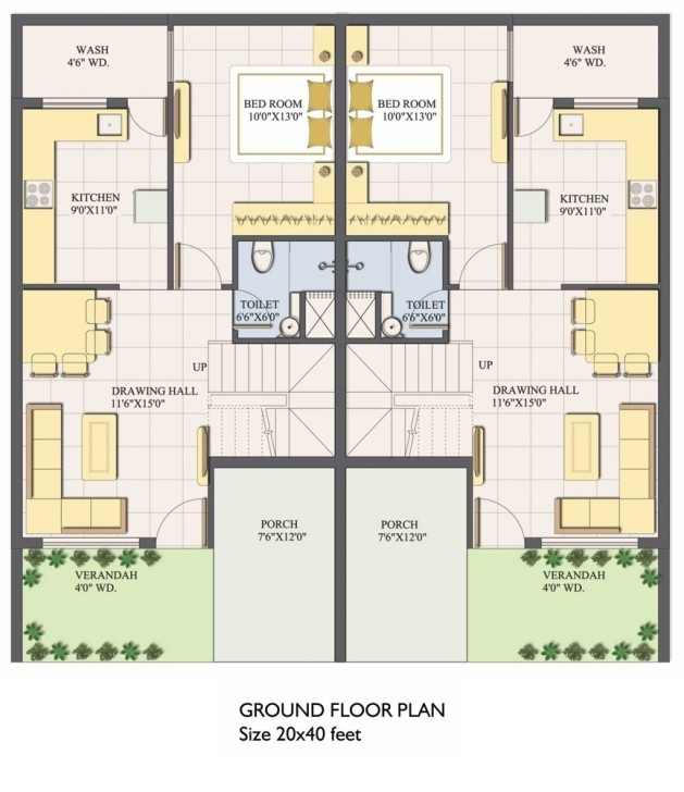 Incredible House Plan West Facing Plans 45Degreesdesign Com Throughout 50 X 40 20*50 House Plan West Facing Picture