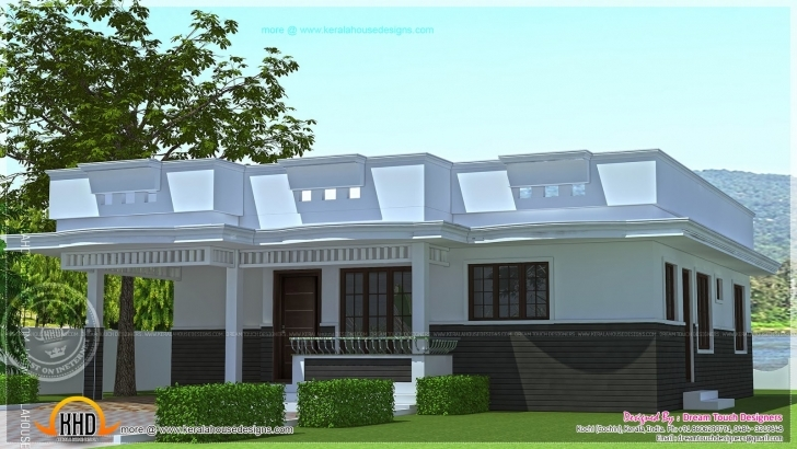 Incredible Single Floor House Design Square Feet Indian Plans - House Plans Simple Single Floor Home Front Design Image