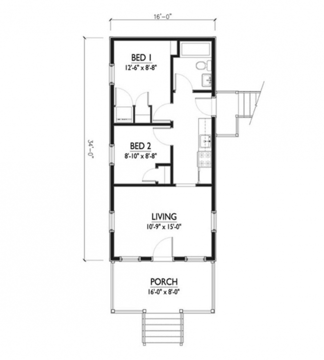 Inspirational 16 X 50 Floor Plans Homes Zone Beautiful 16×36 - Home-Improvements 16 X 50 House Plans Photo