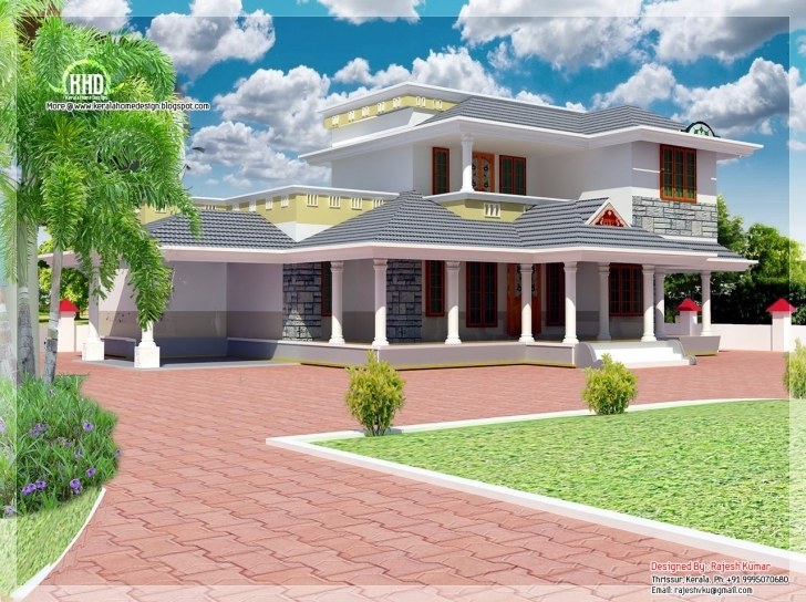Inspirational 2100 Sq.feet Double Floor House Elevation | House Design Plans Pictures Of 2100 Sq Feet Picture