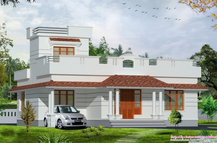 Inspirational 35 Small And Simple But Beautiful House With Roof Deck Home 1St Slab Design In Kerala Photo