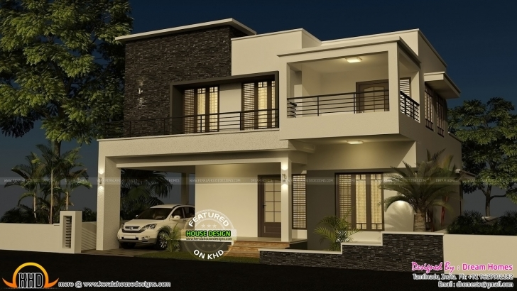 Inspirational 4 Bedroom Modern House With Plan Kerala Home Design And Four 4 Bedroom Modern House Plans In India Pic