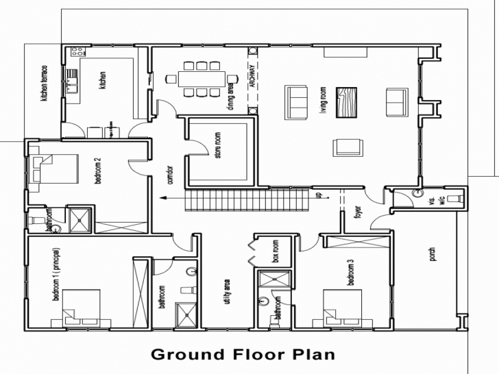 Inspirational 60 Fresh Photograph 4 Bedroom Bungalow House Plans Kenya | Hous Four Bedroom Bungalow House Plans In Kenya Picture