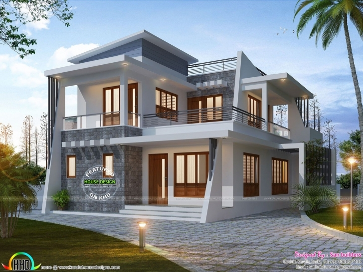 Inspirational Ernakulam-Home-2017 (1600×1201) | 2Story | Pinterest | Exterior Kerala House Elevation 2017 Picture